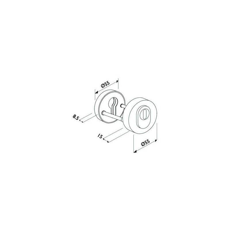 edelstahl pz schutzrosetten paar rund mit zylinderabdeckung kernziehschutz ebay. Black Bedroom Furniture Sets. Home Design Ideas