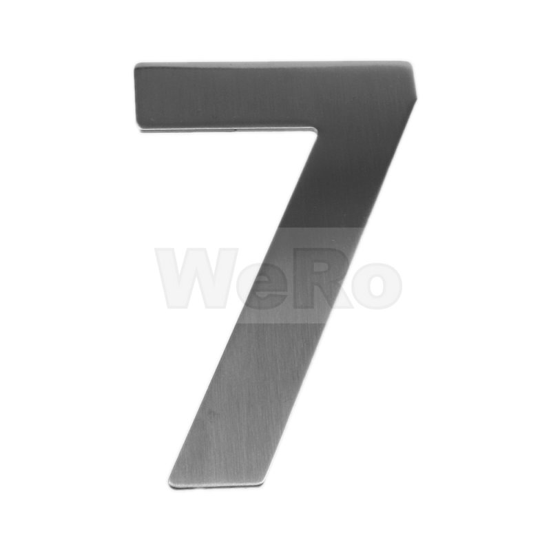 edelstahl hausnummer 7 9 50 wero. Black Bedroom Furniture Sets. Home Design Ideas