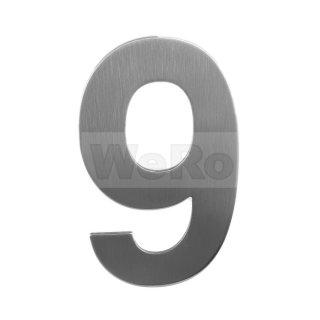 Edelstahl Hausnummer: 9