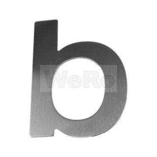 Edelstahl Hausnummer / Buchstabe: b