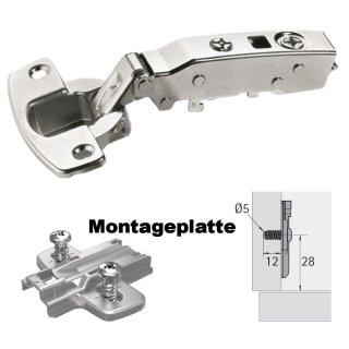 Hettich Sensys 8645i TH52 Küchenscharnier Softclose zum Austausch bei industriell hergestellten Küchen mit Lochreihenabstand 28 mm