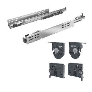 Hettich Vollauszug Quadro 4D V6 mit Silent System für Holzschubkästen